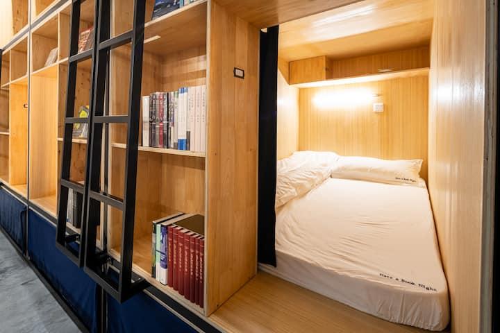 Have a Book Night成都书香入梦青年旅舍/紧邻宽窄巷子人民公园/近地铁/经济实惠上铺