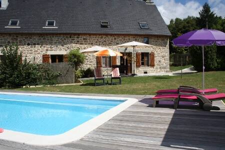 Nice stone cottage,South of France, pool