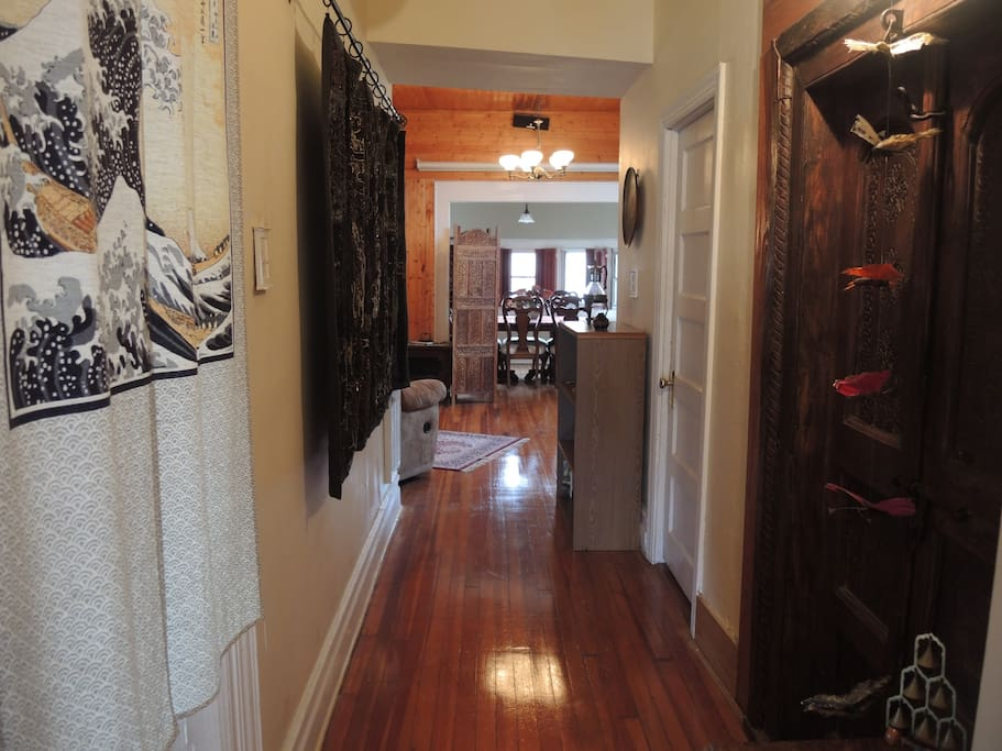 Hallway to living/dining room