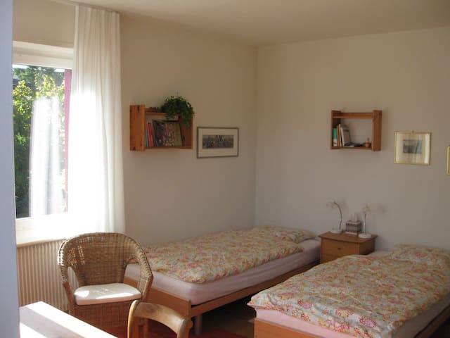 Neue Betten, können zusammen gestellt werden.