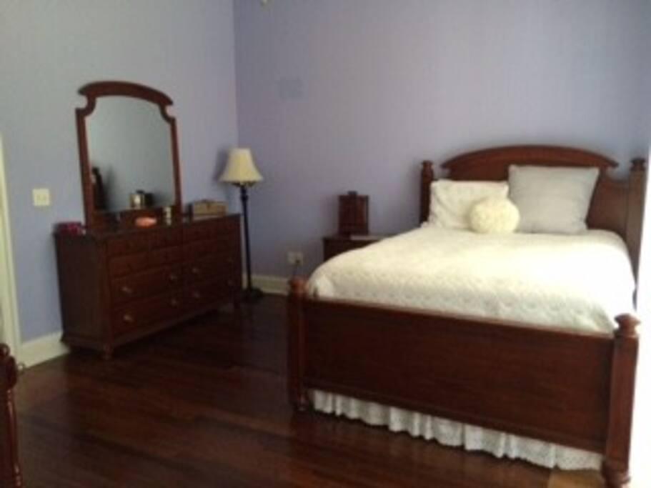 Spacious Guestroom with Vintage Furniture