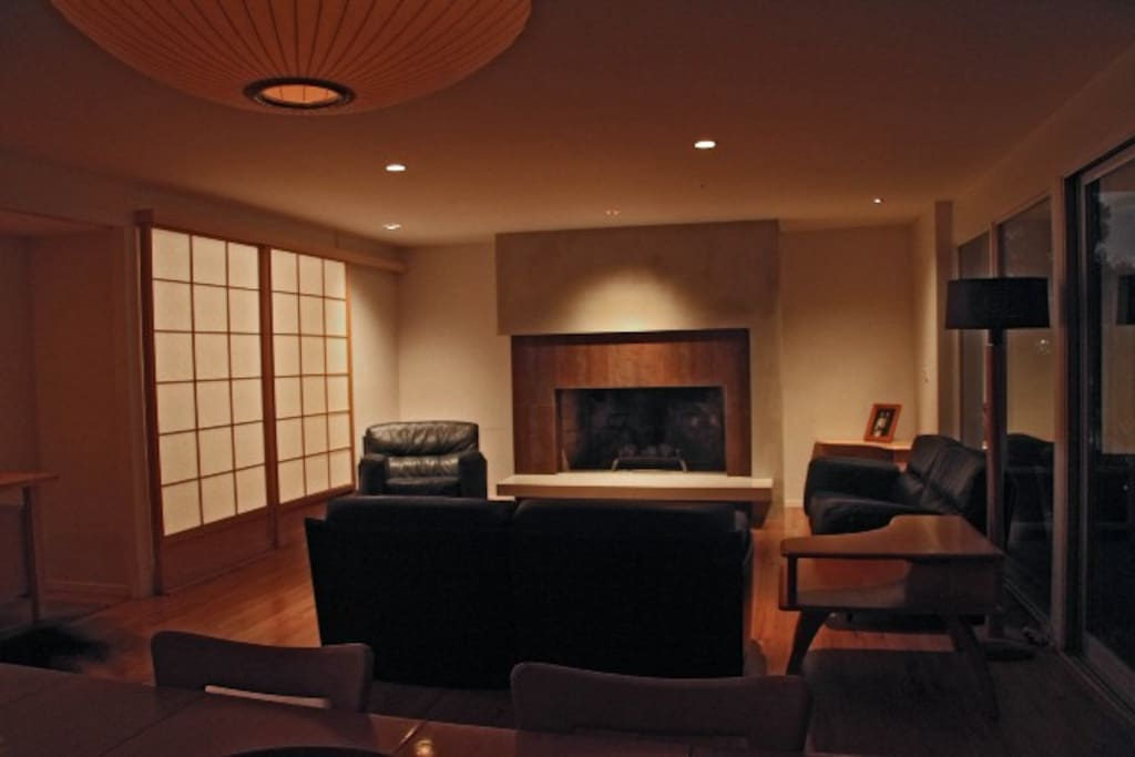 All the lights are on dimmers, so you can control the mood of the house at night.
