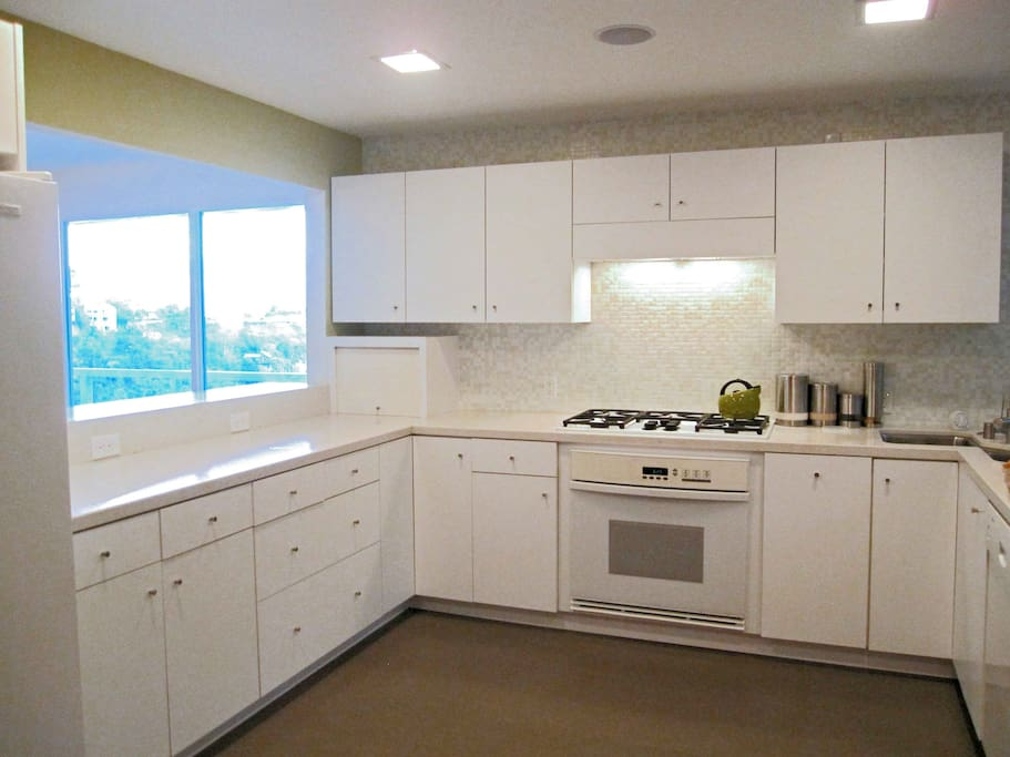 The kitchen is recently renovated and is fully outfitted.