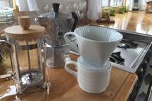 Coffee (or tea...) three ways ;)