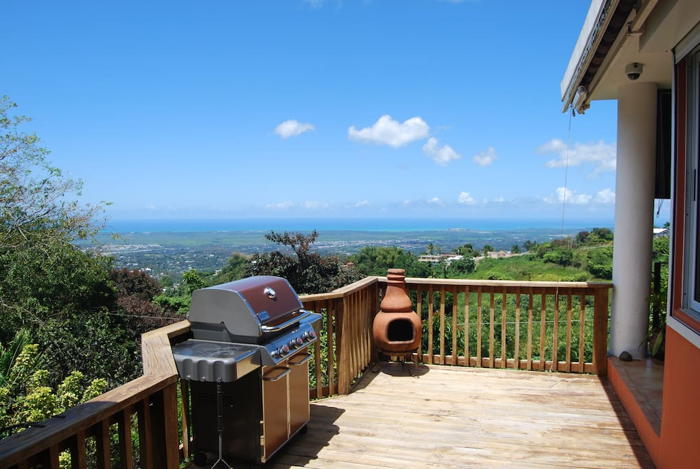 Grilling with an ocean view