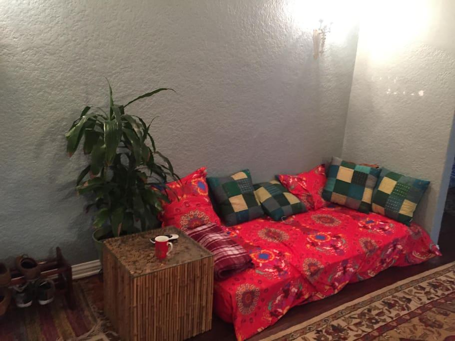 Floor couches galore!
