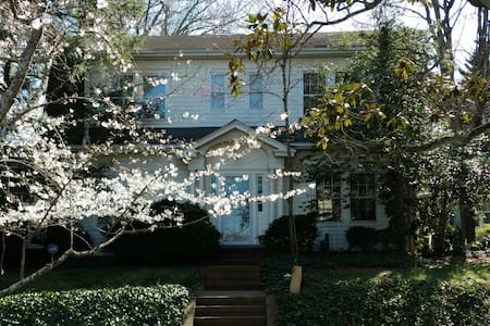 Historic Fisher Park upstairs room, private lounge - Greensboro - Casa