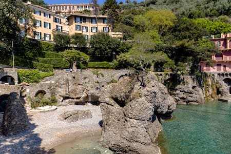 WATERFRONT SUITE IN HOTEL WITHTERRACE/PARK/ BEACH - Portofino - Diğer
