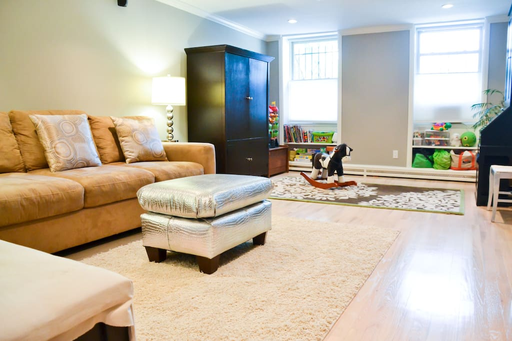 Living room with play area
