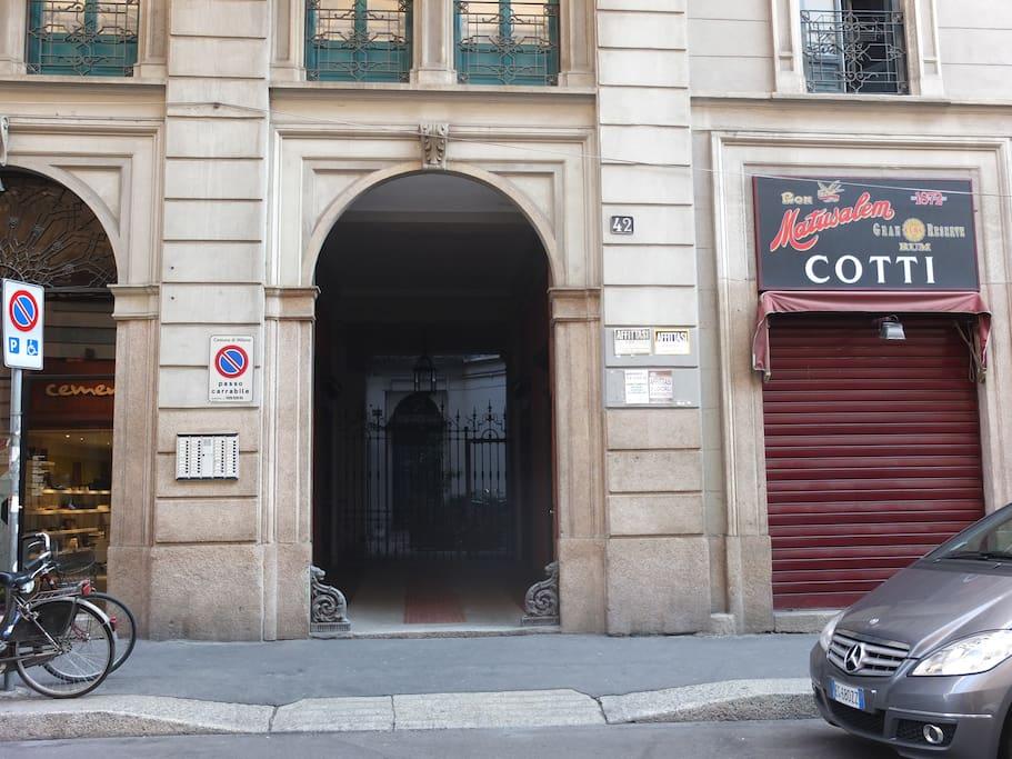 Main door of the building