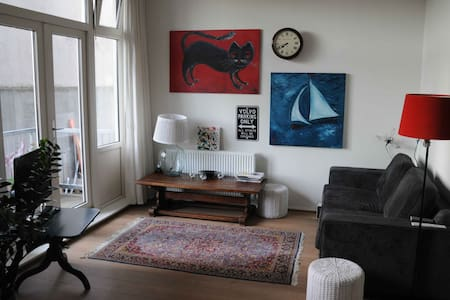 This apartment is located 10 minutes walking from Rotterdam Central Station and only 20 minutes from the Market Hall. The apartment is modern and spacious yet cosy. It is the ideal starting point to explore Rotterdam and its surroundings.