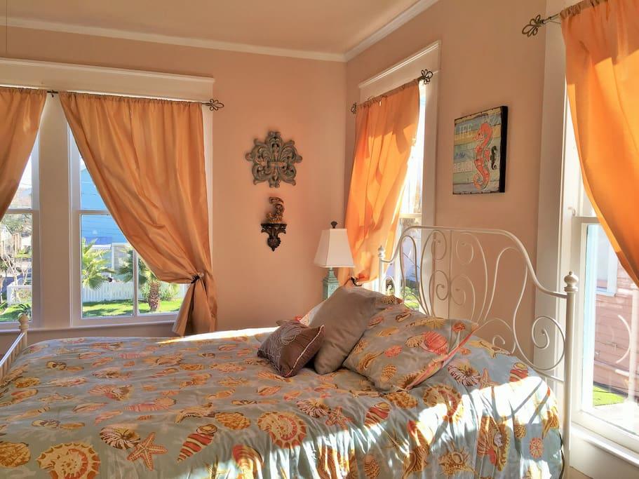 The 'golden' master bedroom