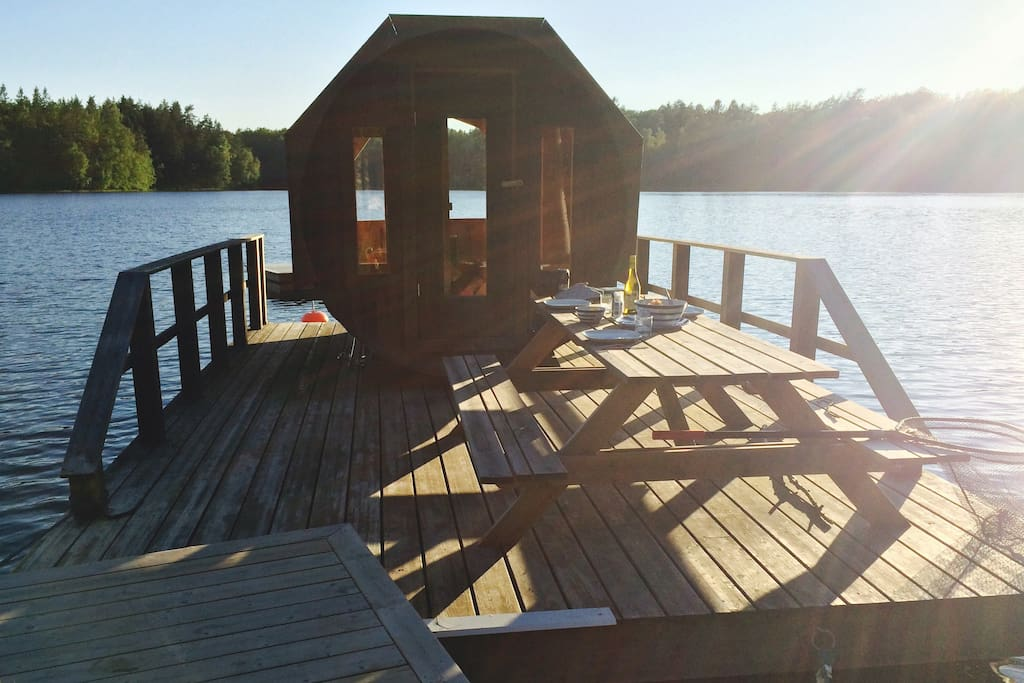 the sauna. Photo by lovely guest Laura