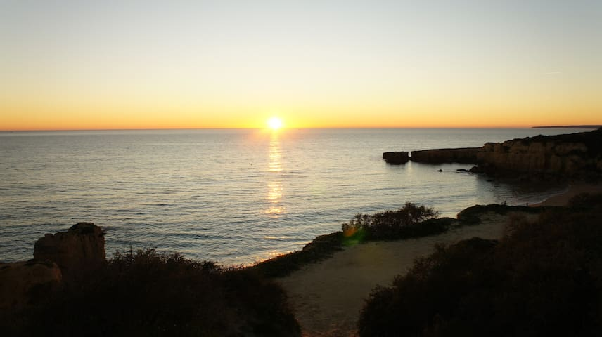 There are always great sunsets at Praia do Castelo.