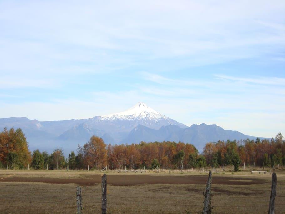 Vista al volcán