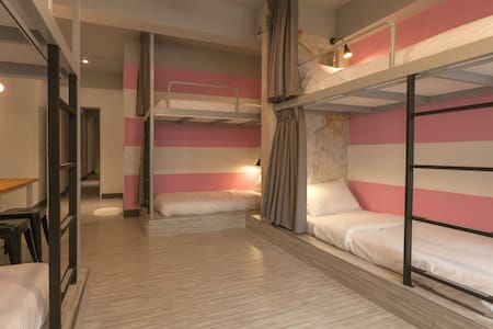 花蓮火車站北吉光6人女性房的1床/1 bed@Female Dorm-7C