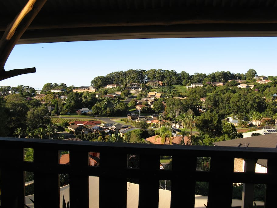 View across the valley from the main deck