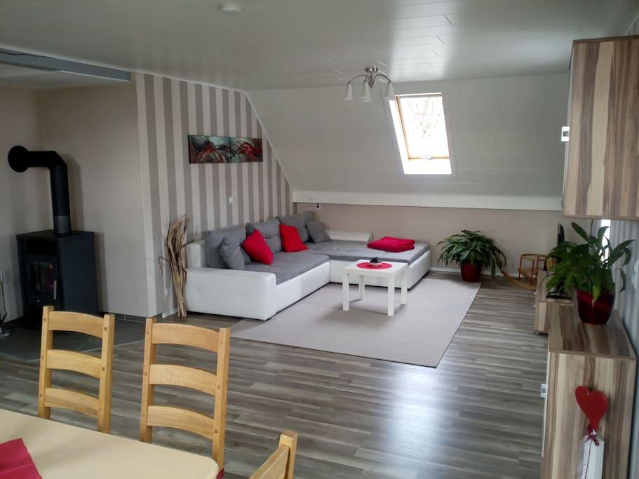 moderne Möbel in einem ansprechenden Ambiente.
