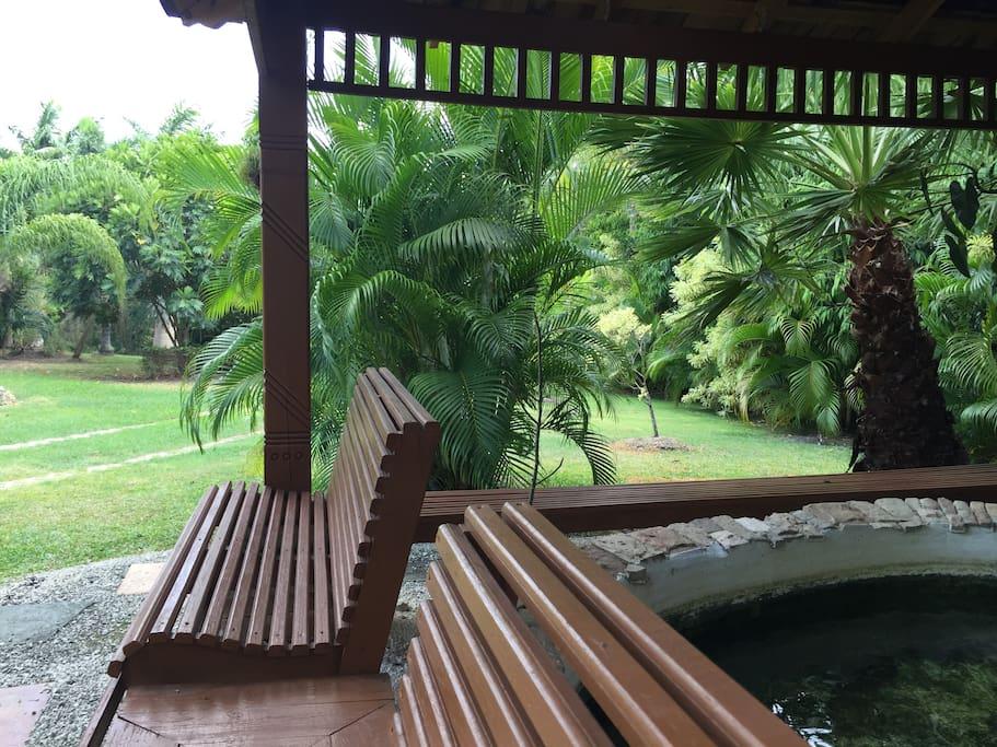 Relax under the gazebo