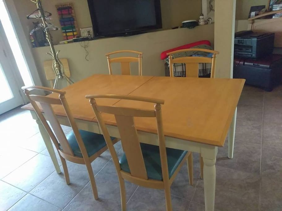 Full-sized dining table