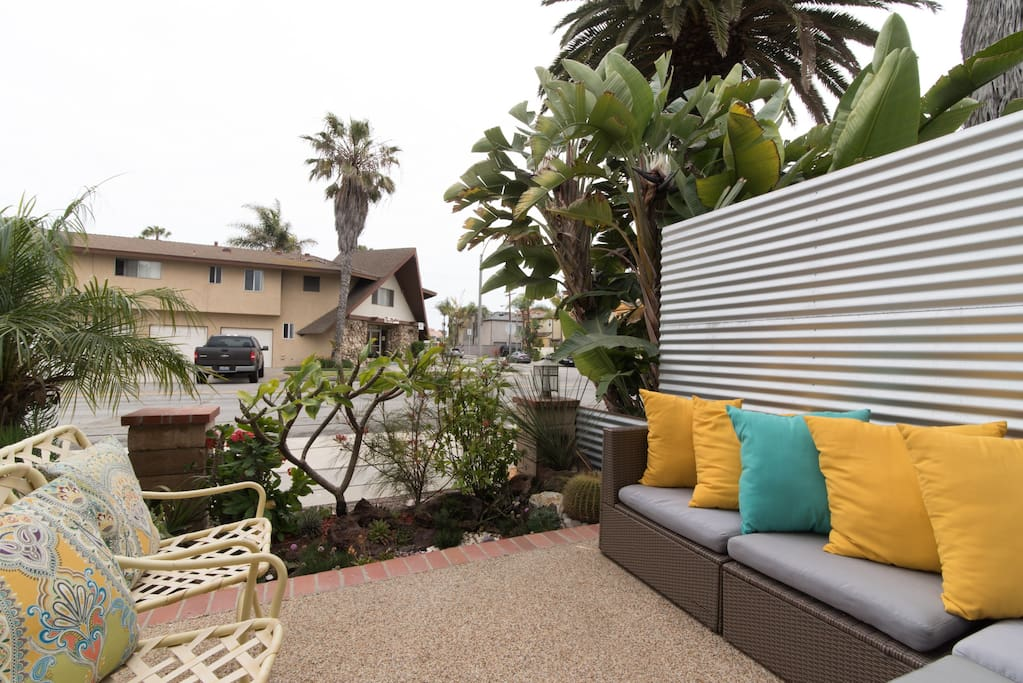 Cute and comfortable patio off the Master Suite