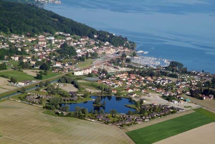 Bouveret, vue incroyable sur le Lac Léman - Port-Valais - Apartemen
