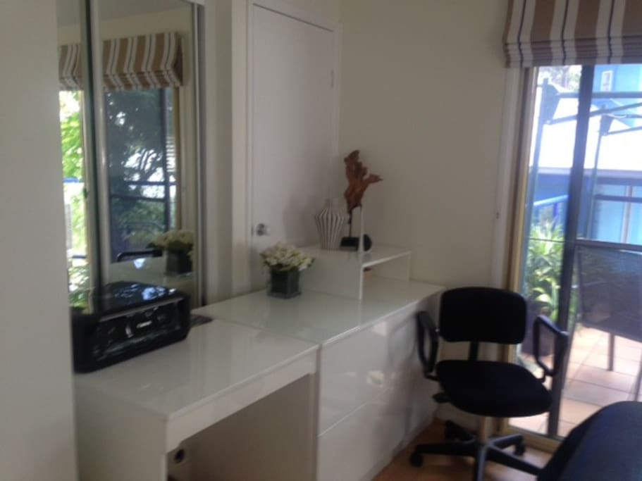 Dressing table/desk in Balcony Bedroom