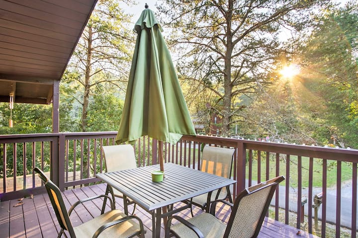 Cozy 'Bear Tree' Sevierville Studio Apt w/Fishing!