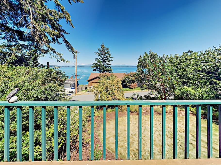 Enjoy panoramic views of the Puget Sound from your private outdoor space.