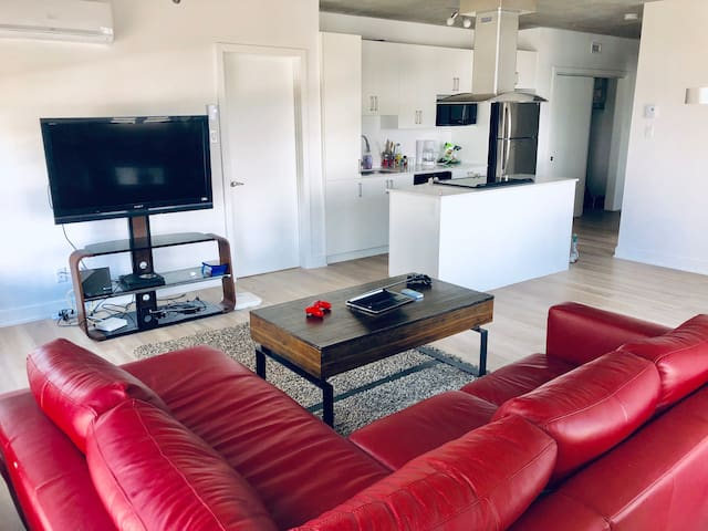 Entire 3 bedroom Condo close to downtown &Parking