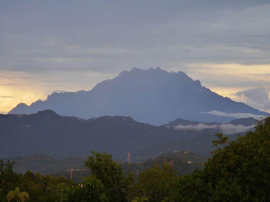 Zoomed in shot of Mount Kinabalu