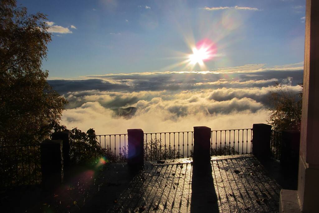 Panorama dalla terrazza di Villa al Sole
