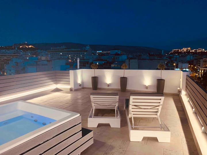 The Loft •  Private Jacuzzi & Acropolis View