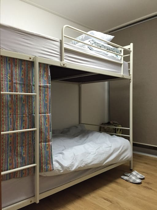 bunk bed in one room