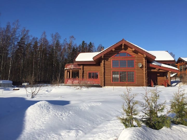 Luxe Chalet(250м2) 1st line lake view by Fin.Golf.
