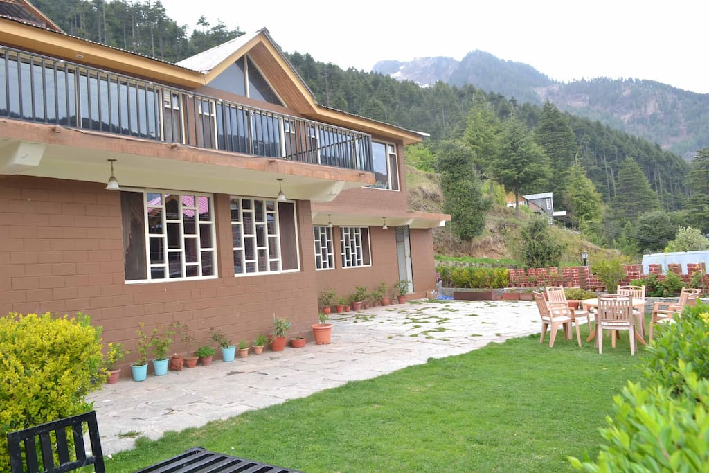 Outside View of the Cottages
