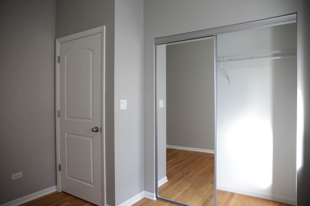 Recently remodeled bedroom