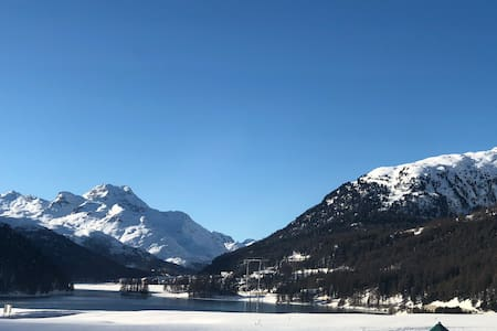Most beautiful view in Champfèr / St. Moritz