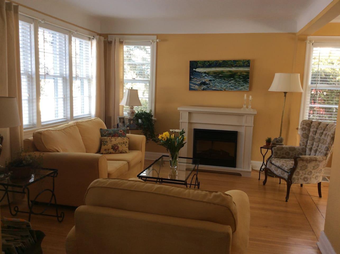 Living room in Summer-main floor