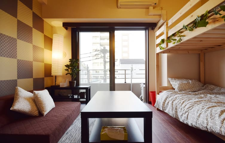 ASAKUSA Station 5min walk/Clean and relaxing room★ - sumida-ku - Appartement