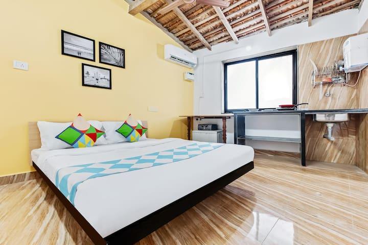 Best Deal! Spacious 1BR Abode in Calangute, Goa