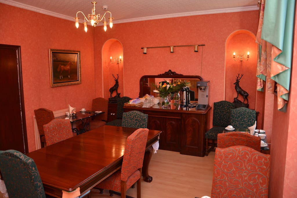 Large dining room where breakfast is served