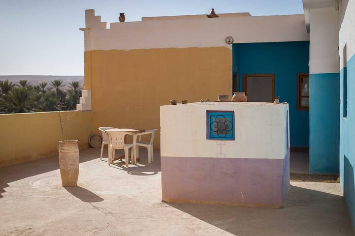 Hôtel Azul, chambre 4 personnes - Tinghir - Hotel butik