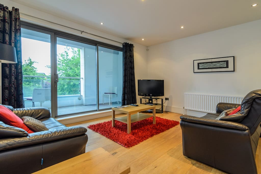 Bright spacious lounge