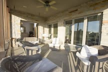 Enjoy excellent views from a screen in porch