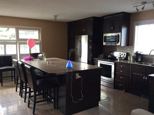 Fabulous private large area in lower level house