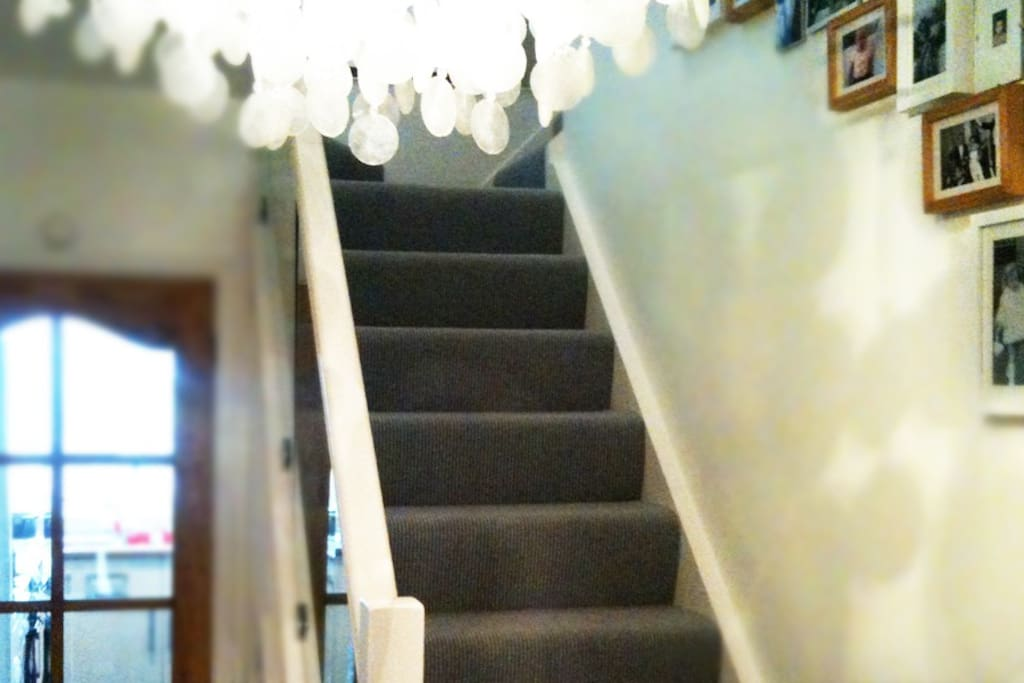 Glass banister and staircase