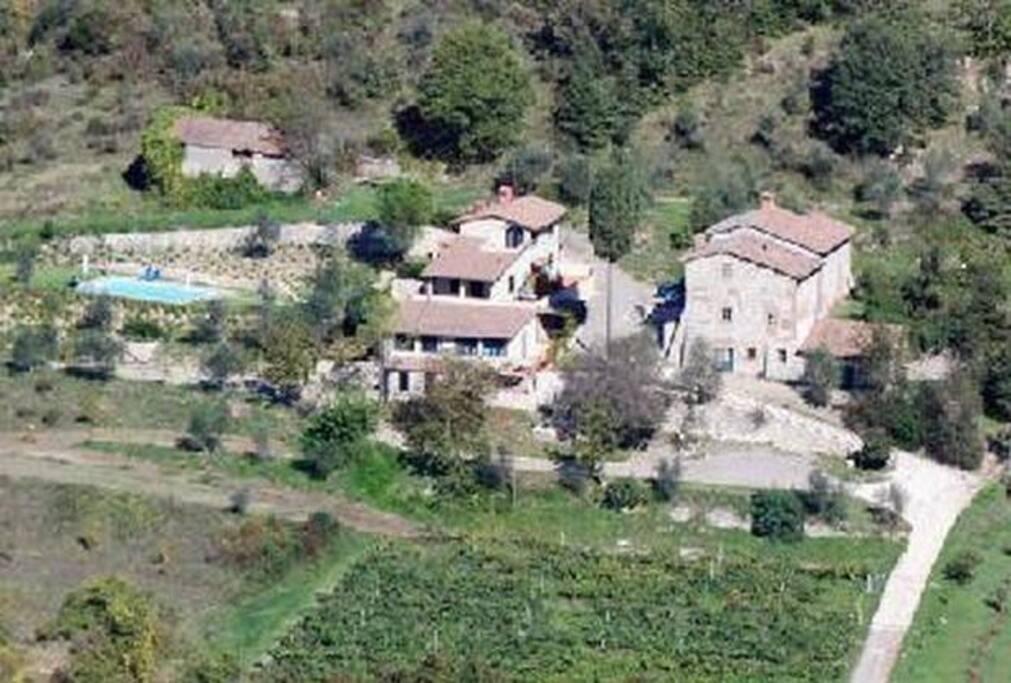 Vista aerea dell'intera struttura