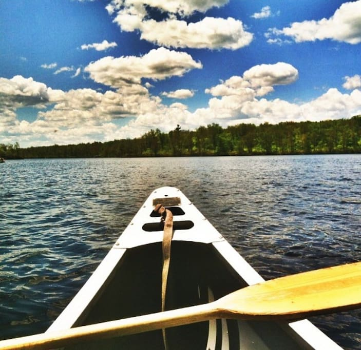 Tobyhanna state park is just a 5 minute drive where you can rent canoes and kayaks for the day.