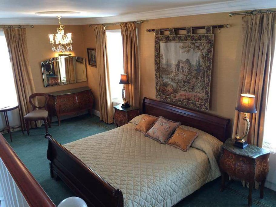 Your room is spacious and cosy with a kingsize bed